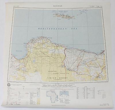 Banghazi Africa Vintage Original Defense Mapping Agency Topographic Map
