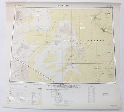 Dakhla Oasis Africa Vintage Original Army Service Engineers Topographic Map