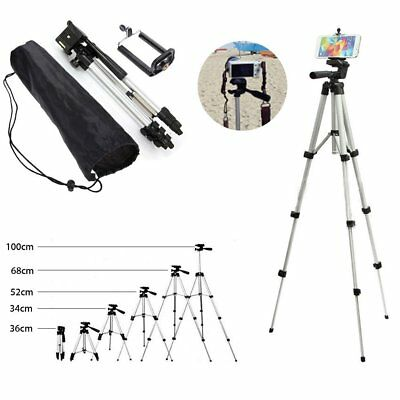 Professional Adjustable Camera Tripod Stand Cell Phone Mount Holder + Bag NS