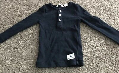 Country Road Baby Boys Navy Blue Ribbed Henley Top  00