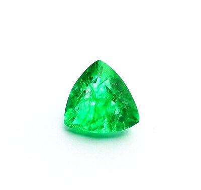 Emeraude Naturelle Verte de Colombie 6,72 ct avec Certificat d'Authenticité GGL