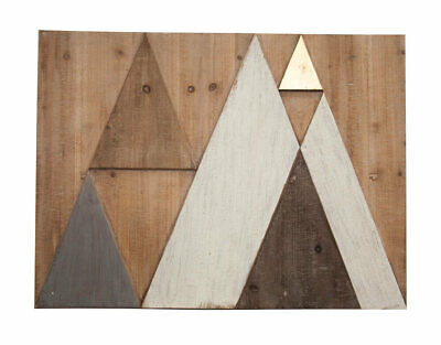 Wall Art ABSTRACT MOUNTAINS Layered Panel Pinewood 80x60cm Minimalistic