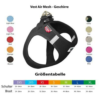 Curli Brustgeschirr Hund Vest Air Mesh Hundegeschirr Soft Geschirr 3XS - XL