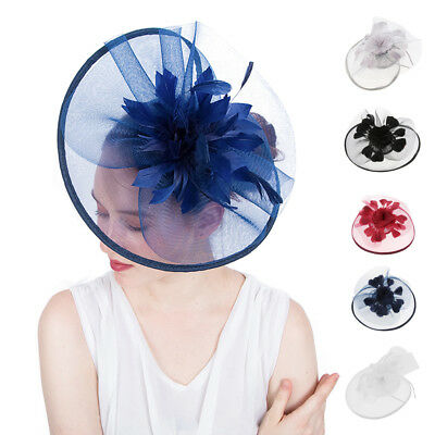 Fascinators Hat Feather Headband Wedding Church Headpiece Derby Hat Women