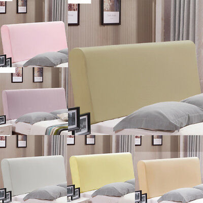 """Stretch Headboard Cover Protector Soft Bedroom Decorative Cover 55-67"""" Width"""