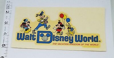 Vintage Walt Disney World Waterslide Decal ~ Mickey Mouse Minnie Goofy Pluto