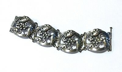 Vintage George Jensen Style Sterling Silver Bracelet,hand Made In Early 20 Cen.