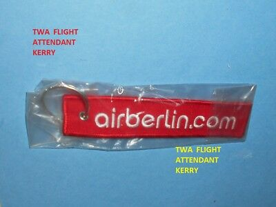 Air Berlin Germany Airlines Remove Before Flight Luggage Bag Tag Keychain New