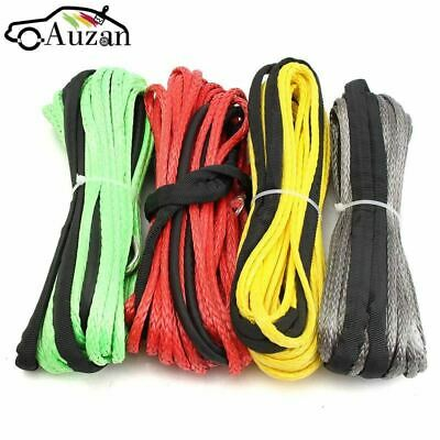 3/16'' x 50' Synthetic Fiber Winch Line Cable Rope 5500+ LBs + Sheath For ATV UT