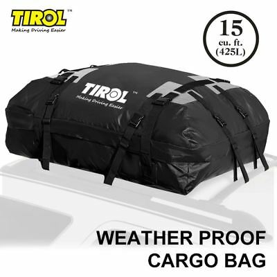 Waterproof Roof Top Carrier Cargo Luggage Travel Bag (15 Cubic Feet) For Vehicle