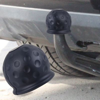 Car Rubber Black 50mm Tow Ball Towball Protector Cover Cap Hitch Caravan Trailer