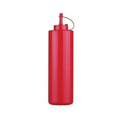 Dosatore Rosso Flacone Ketchup Maionese Squeeze Bottle Con Tappo Lt.0,72 Paderno