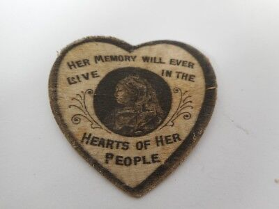 QUEEN VICTORIA Her Memory Will Ever Live in the Hearts of Her People Old Patch
