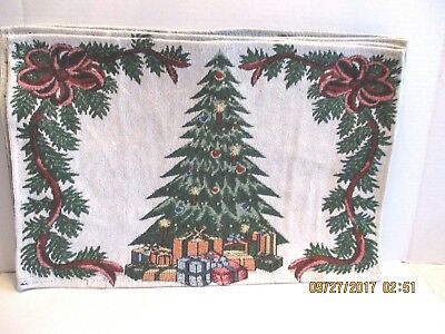 "Set 4 Christmas Tree Tapestry Rectangular 18.5"" x 12"" Place Mats"