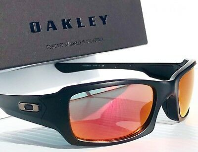 e2f02c8556e72 NEW  Oakley FIVES Squared Matte BLACK POLARIZED RUBY   Grey Lens Sunglass  oo9238