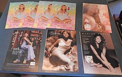 Lot of 8 Neat Old MARIAH CAREY CLIPPINGS ADS
