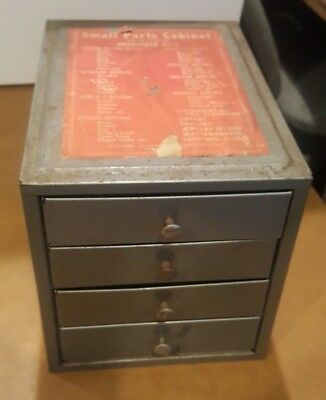 Vintage Kennedy 4 D Drawer Small Parts Cabinet W/label Tools Hardware USA  Lot 3