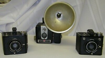 vintage box cameras 2 Six-20 Brownie Special and Brownie Hawkey
