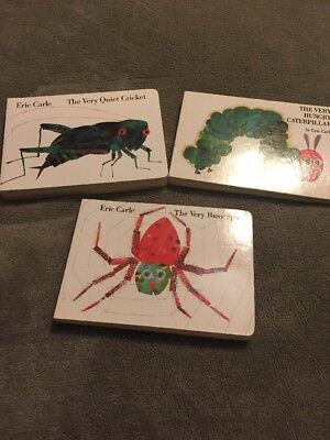 The Very Hungry Caterpillar Eric Carle Book Lot