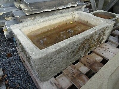 Reclaimed Yorkstone stone trough