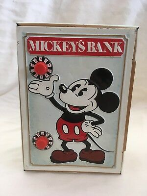 Vintage 1978 Walt Disney Mickey's Combination Coin Bank