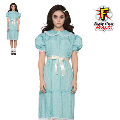 Ladies Creepy Sister Costume 80s Adults Scary Halloween Movie The Shining Outfit