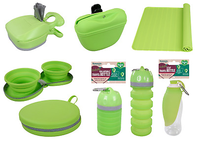 Rosewood Dog Pet Travel Products Compact Foldable Dogs Food Bowls Water Bottle