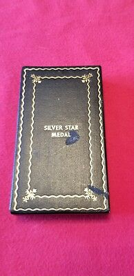 Rare US World War II government issue silver star case