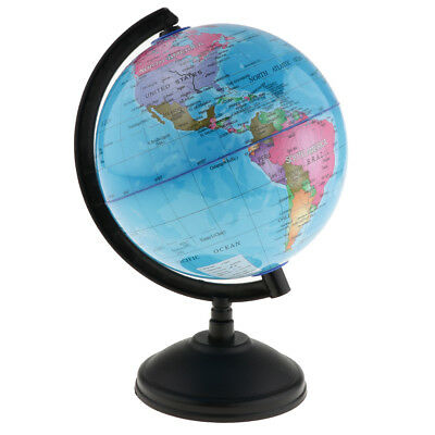 14cm Science World Country Earth Globe Base Geography Swivel Atlas Map Blue