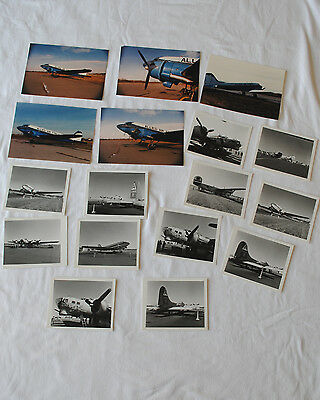 Lot of 17 Vintage Photos 1980s Allied Air Force Museum, Allentown, PA