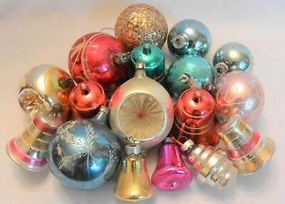 Mixed Lot Vintage Mercury Christmas Ornaments; 19 pieces