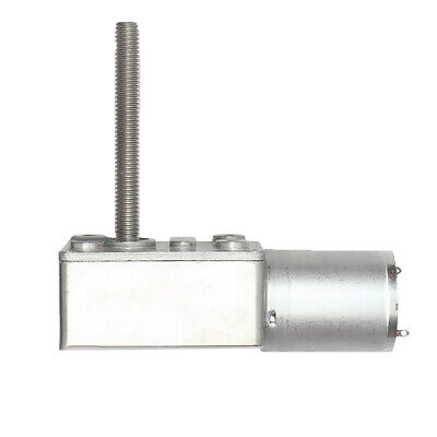 1pc 24V 10RPM Metal Reversible Torque  Worm Geared Reducer DC Motor
