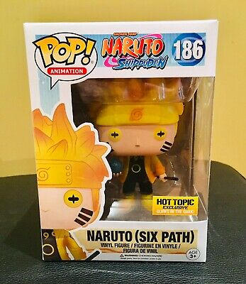 Funko Pop! Naruto Six Path Shippuden GITD #186 Hot Topic Exclusive Mint A+Seller