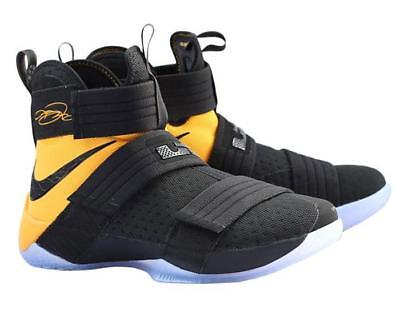 cheap for discount bfb3f 513a8 MENS NIKE NIKE Lebron Soldier 10 X SFG Sneakers New, Black Yellow 844378-007
