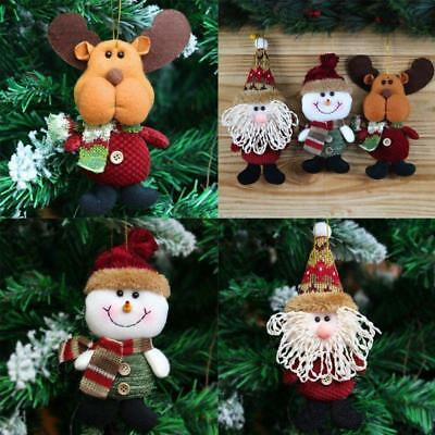 Christmas Tree Hanging Decor Snowman Santa Claus Reindeer Ornaments Xmas Gift LH