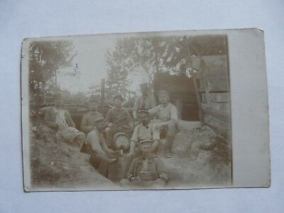 German Soldiers WW1 Trenches Infantry Regiment 69 Sent as a feldpost in 1915