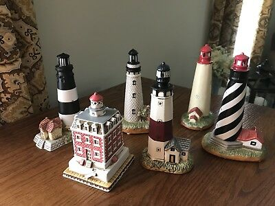 Lefton Lighthouse Collection Set Of 6 1993-1994