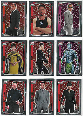 Marvel Missions Complete 16 Mirror Foil Set - Topps Europe - 2017