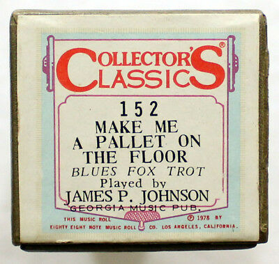 """JAMES P JOHNSON """"Make Me A Pallet On The Floor"""" COLLECTORS CLASSICS [PIANO ROLL]"""