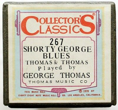 """GEORGE THOMAS """"Shorty George Blues"""" COLLECTORS CLASSICS 267 [PIANO ROLL]"""