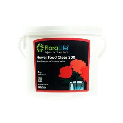 Flower Food  2kg Floralife® 300 Clear Vase Solution Weddings Floristry 82-00036