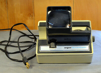Vintage Argus 693 Electromatic Slide Viewer~35mm~Auto Advance