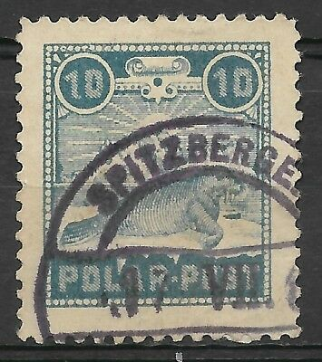 Norway Spitsbergen/Spitzbergen Polar Post 1897 Bode exp FU (not CTO)