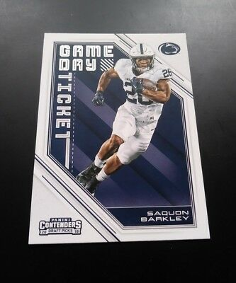 Saquon Barkley Giants RC Rookie Game Day Ticket #5 Panini Contenders 2018 Card