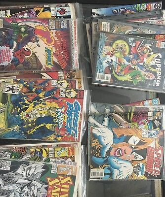 HUGE Mixed COMIC BOOK LOT (36)Silver Sable, Spider Woman/ Man, Ghost Rider +