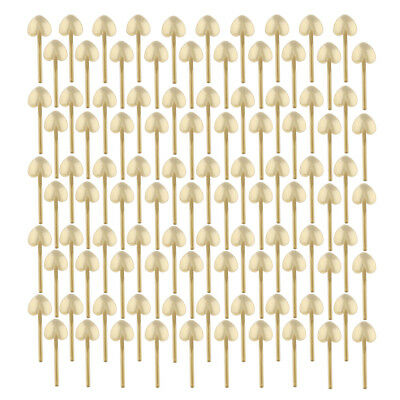 Blesiya 100Pcs Gold Plastic Strong Disposable Spoons, Cake Pudding Ice Cream