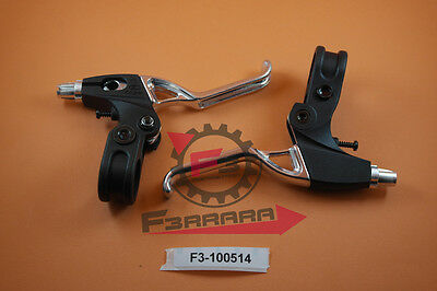 F3-100514 Couple LEVERS BRAKE MTB 2 FINGERS Aluminum and NYLON Bicycle Cycle