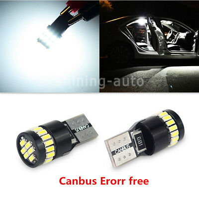 2x CANBUS 2825 168 194 Map Dome light W5W White 24SMD car Interior LED Bulb c11
