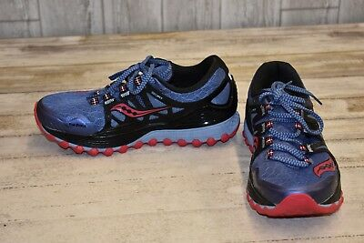 Saucony Xodus ISO Athletic Shoes - Women's Size 8 - Black/Blue/Pink