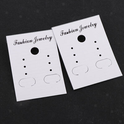100x Jewelry Display Cards Jewelry Package Cards Hanging Cards Display Tags